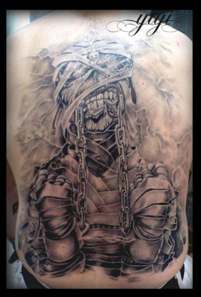 The mummy is a favorite and makes a killer backpiece