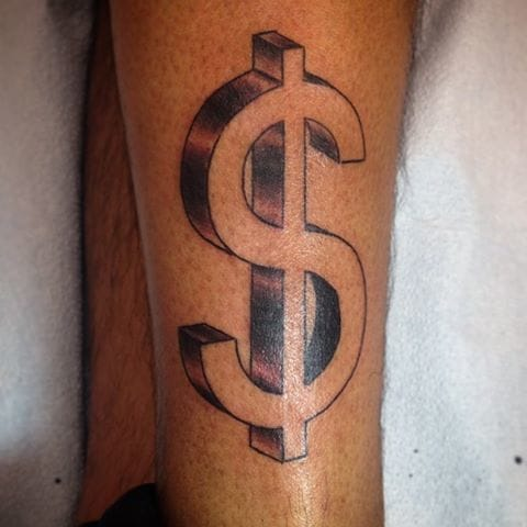 15 Dollar Sign Tattoo Designs