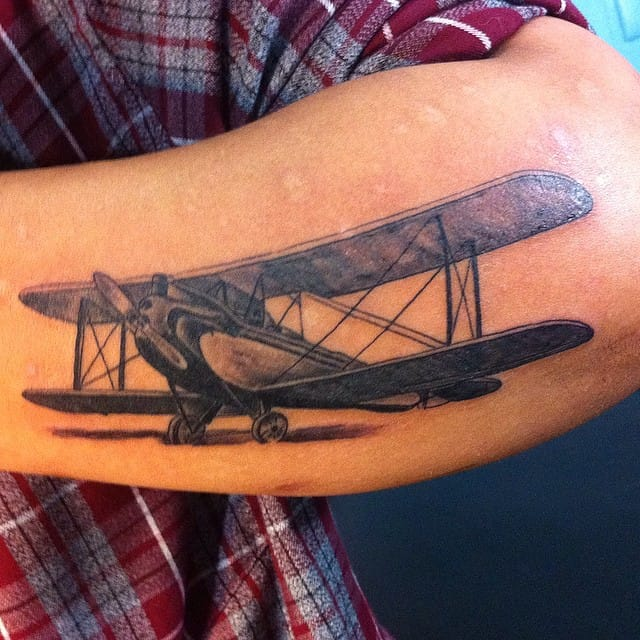Beautiful B-14 tattoo by Matt Wolf