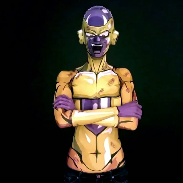 Kay Pike as Frieza  #bodypaint #cosplay