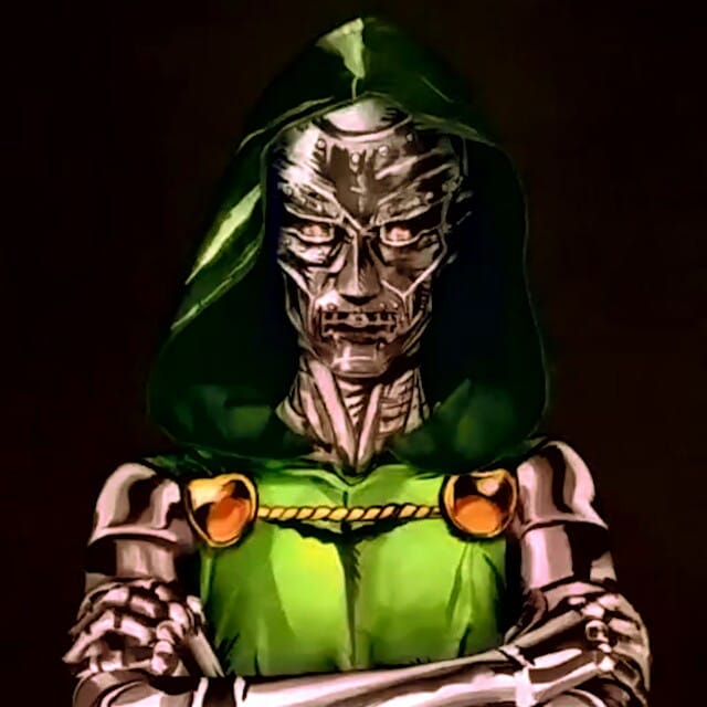 Kay Pike as Doctor Doom #bodypaint #cosplay