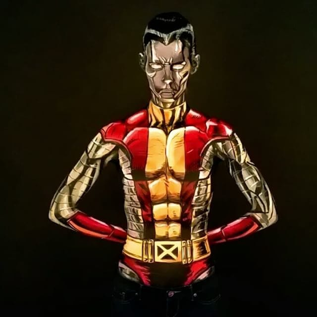 C Kay Pike as Colossus #bodypaint #cosplay