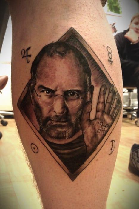 Steve Jobs Tattoo, unknown artist #stevejobs #portrait