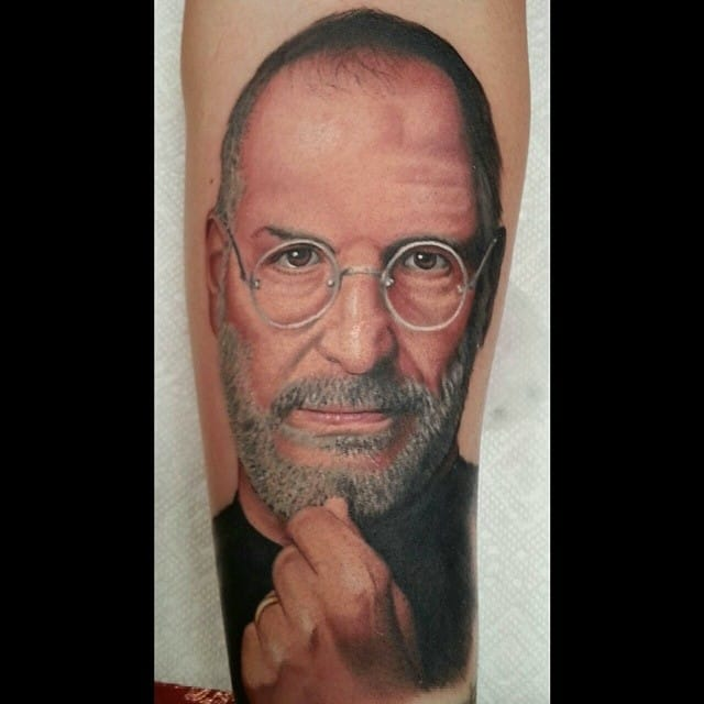 Tattoo by Darian Lisker #stevejobs #portrait #darianlisker