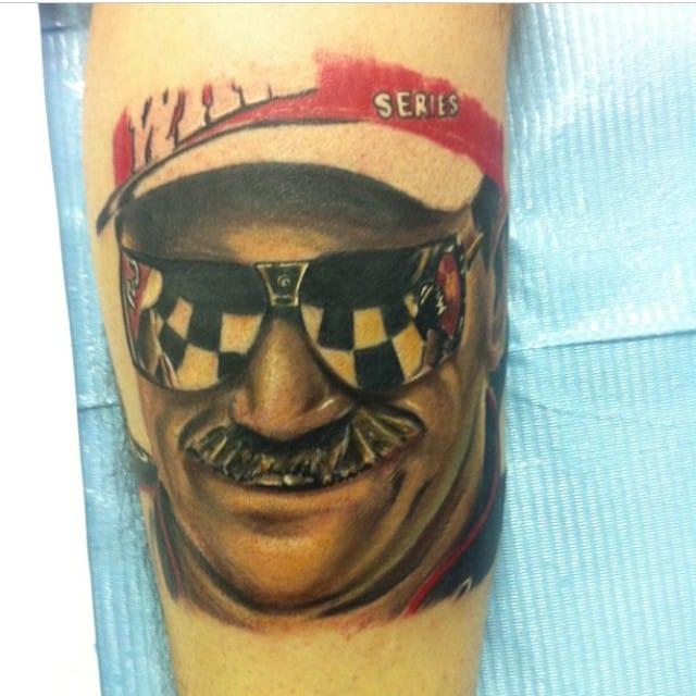 NASCAR Tattoo by John Vanderpool #NASCAR #racing #portrait #johnvanderpool