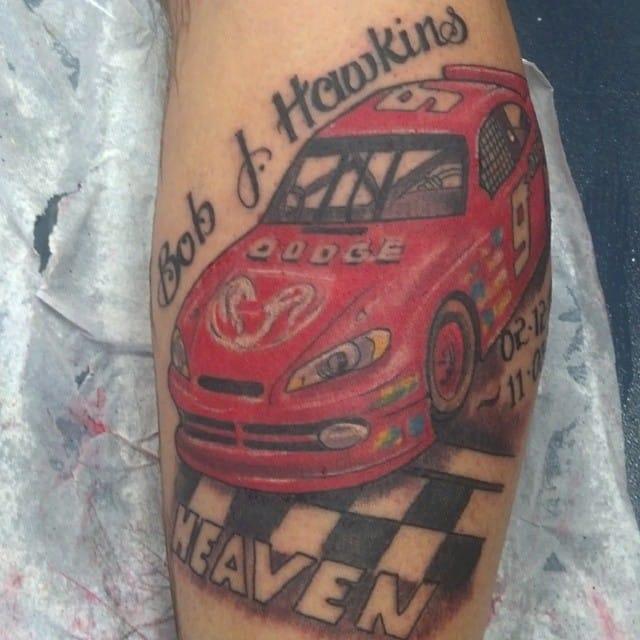 NASCAR Tattoo by Pym Tattoo #NASCAR #racing #pymtattoo