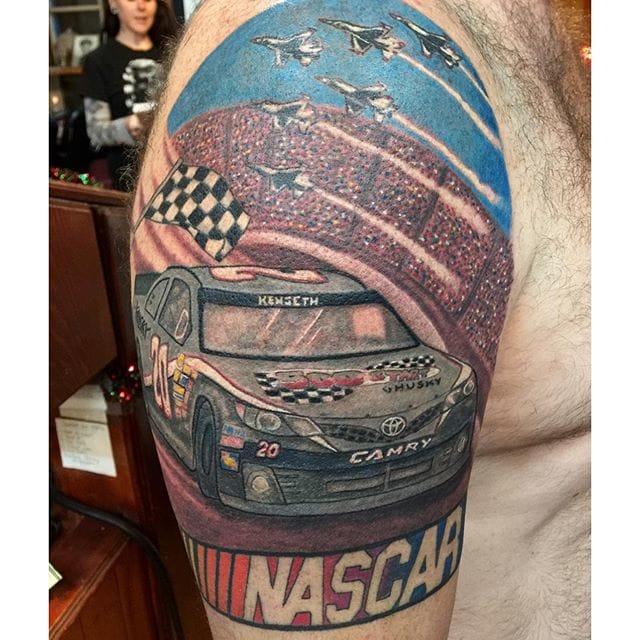 NASCAR Tattoo by Telisa Swan #NASCAR #racing #car #telisaswan