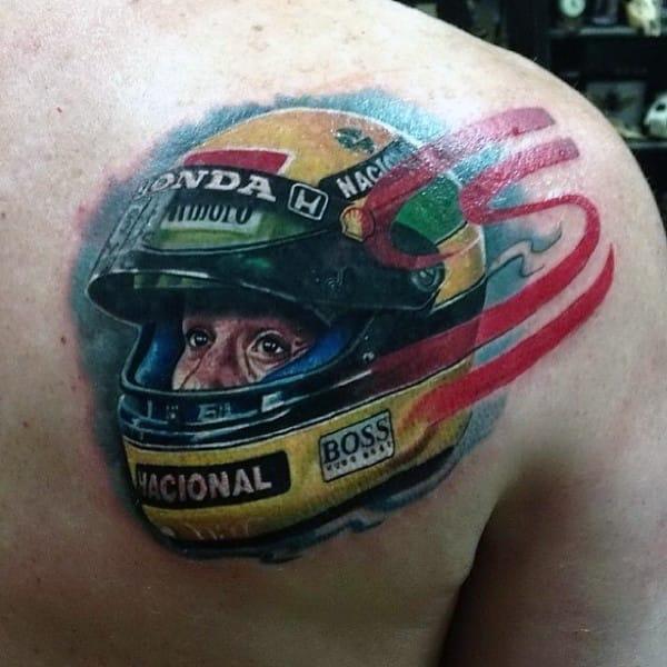 NASCAR Tattoo, artist unknown #NASCAR #racing