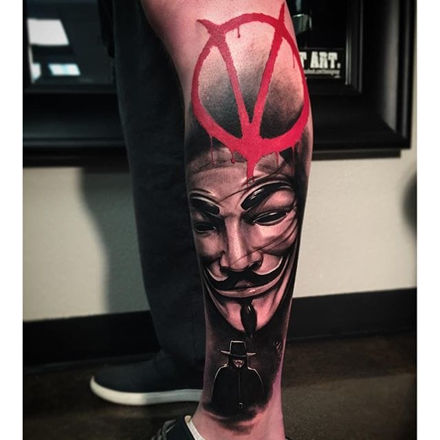 12 revolutionary v for vendetta tattoos tattoodo