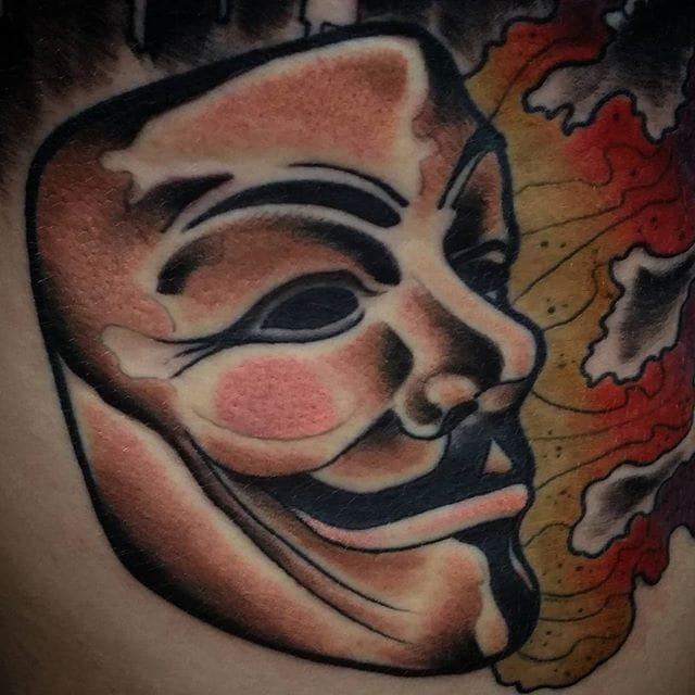 Tattoo Designs Vendetta: 12 Revolutionary V For Vendetta Tattoos