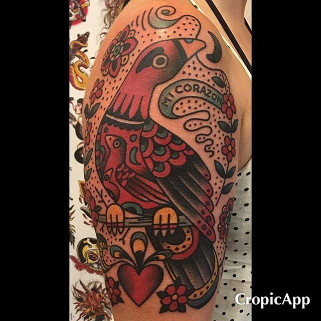 Cool half-sleeve done by Rob Benavides