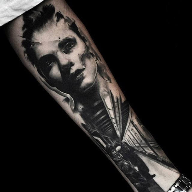 Forearm tattoo by Kurt Staudinger. Awesome details and composition.