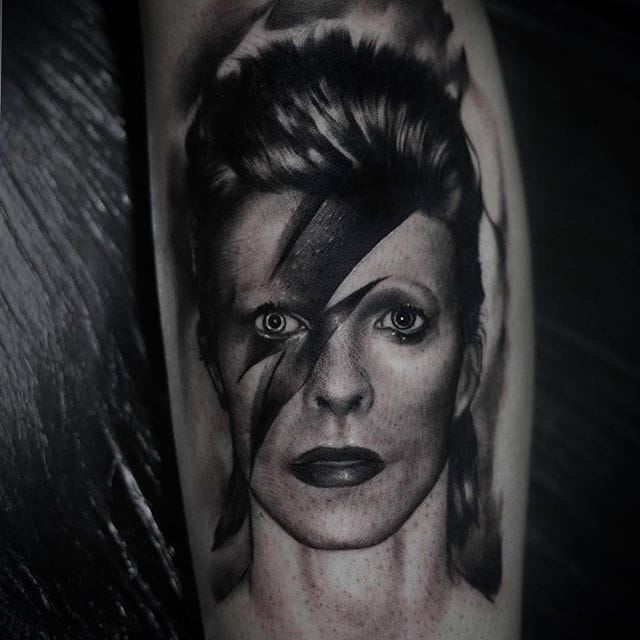Bowie portrait by Kurt Staudinger