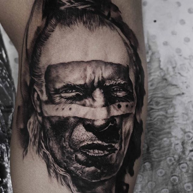 Check out the detail on this tattoo by Kurt Staudinger
