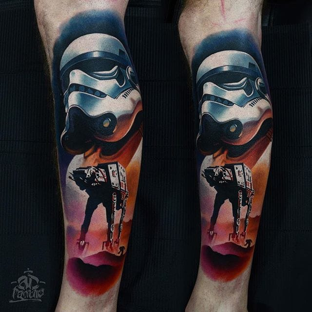 Stormtrooper tattoo by AD Pancho