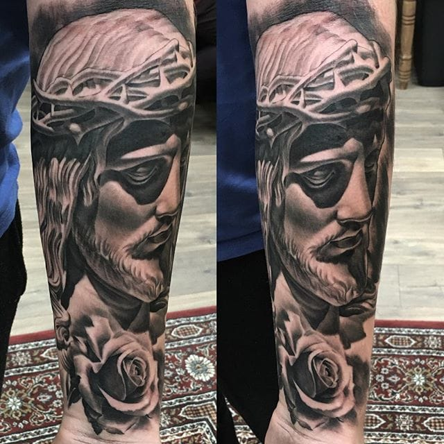 Christ tattoo by Joey Boon