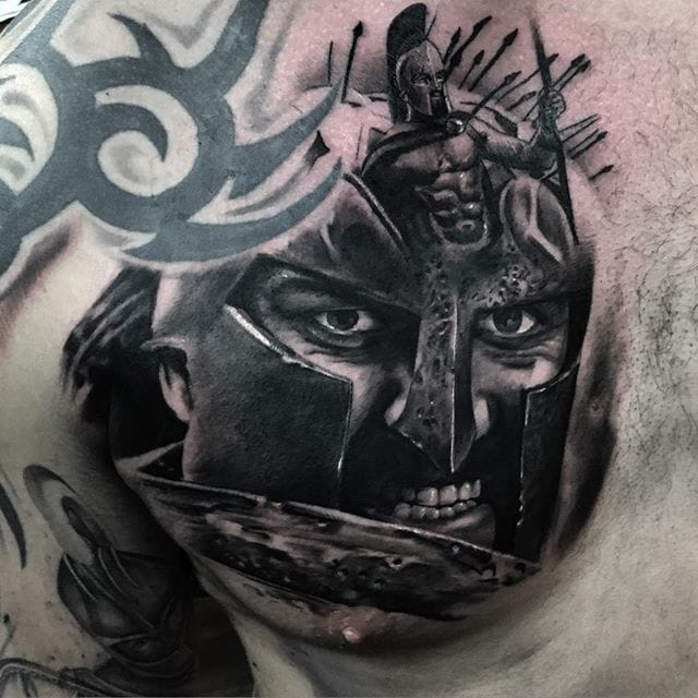 Leonidas tattoo by Joey Boon