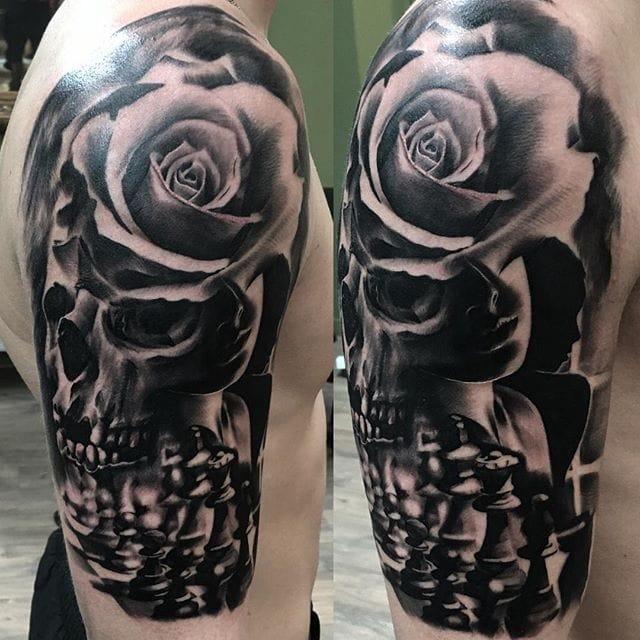 Skull rose morph by Joey Boon