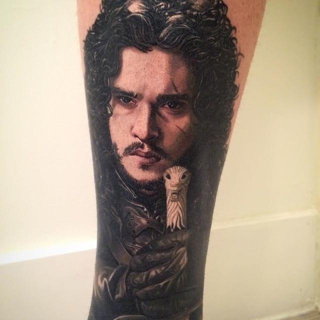 Jon Snow from GOT tattoo by Carlos Rojas