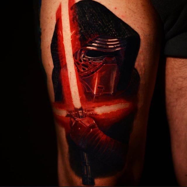 Kylo Ren tattoo by Carlos Rojas
