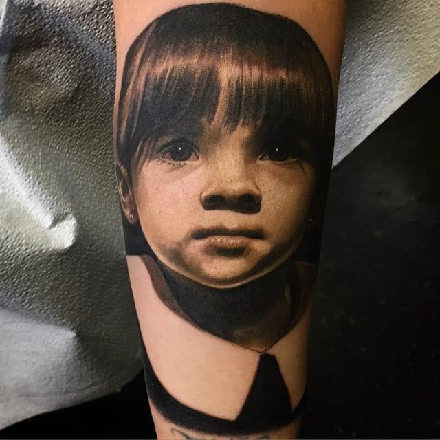 Incredible portrait tattoo by Carlos Rojas
