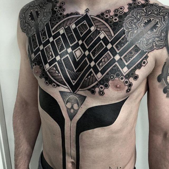Elegant and Amazing Black Tattoos by Nissaco