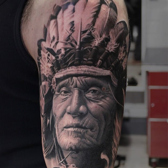 Indian tattoo by #RyanEvans