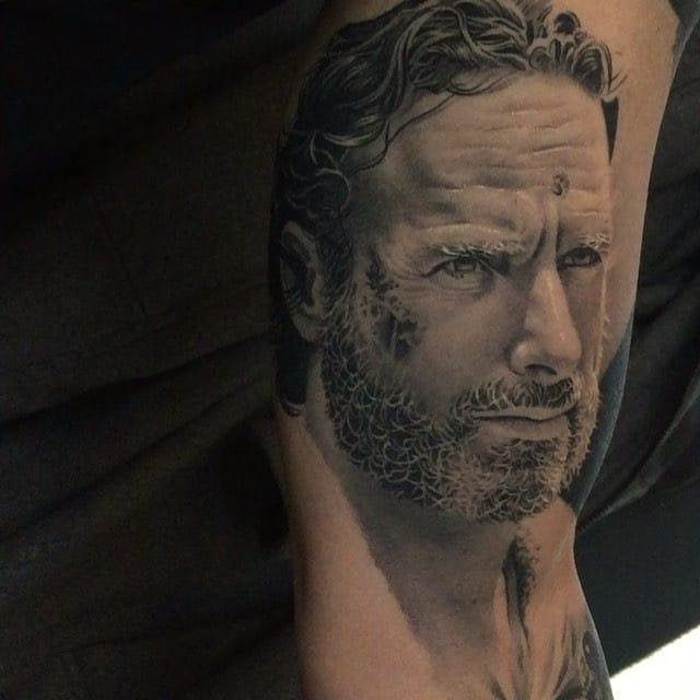 Rick from The Walking Dead tattoo by Ryan Evan #RyanEvans