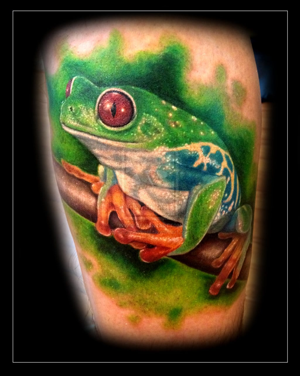 Awesome frog tattoo #frogtattoo