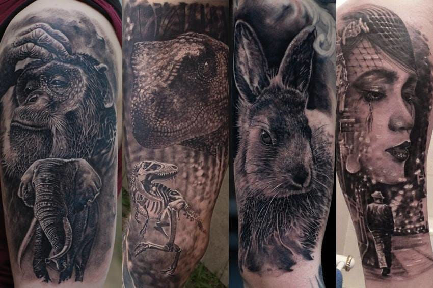 Insane Scenic And Hyperrealistic Black & Gray Tattoos By Matthew James