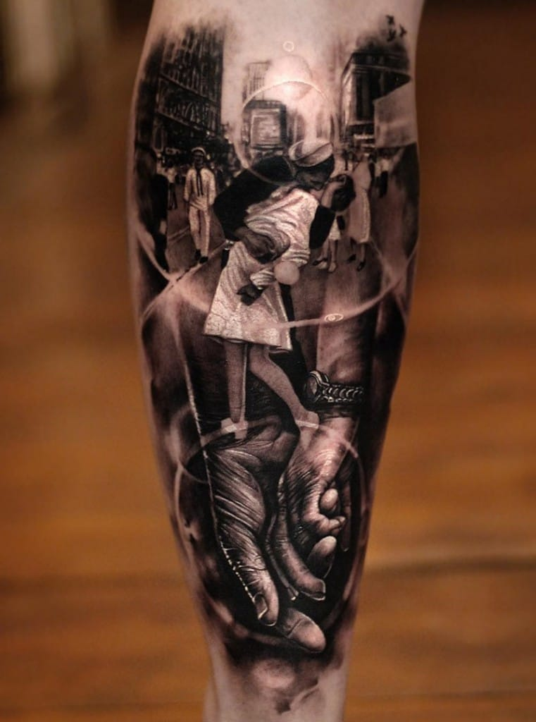 Lovely couple tattoo by Matthew James