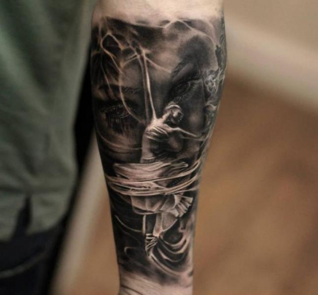 Ballerina dance tattoo by Matthew James