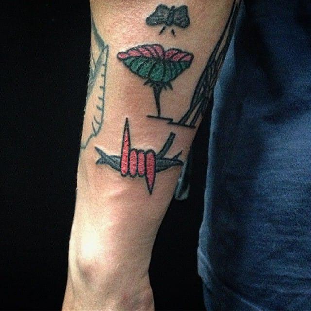 Barbed Wire Tattoo by Yaroslav Putyata #barbedwire #traditional #yaroslavputyata