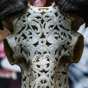 Skull carvings - bighorn Sheep skull
