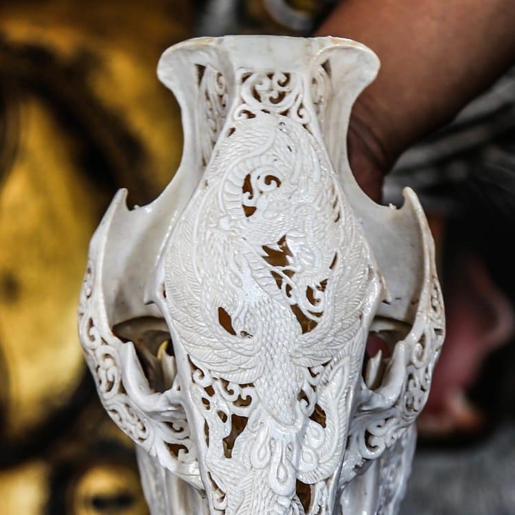 Cow skull #skullcarvings