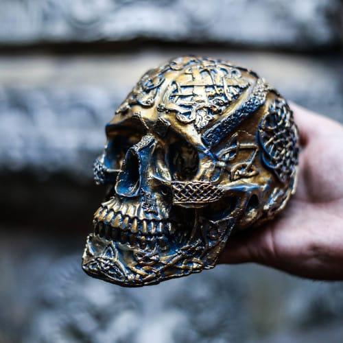 Polyester human skull #skullcarvings