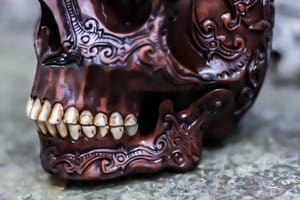 Wooden human skull #skullcarvings