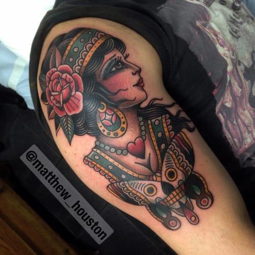 Butterfly Lady Tattoo by Matthew Houston