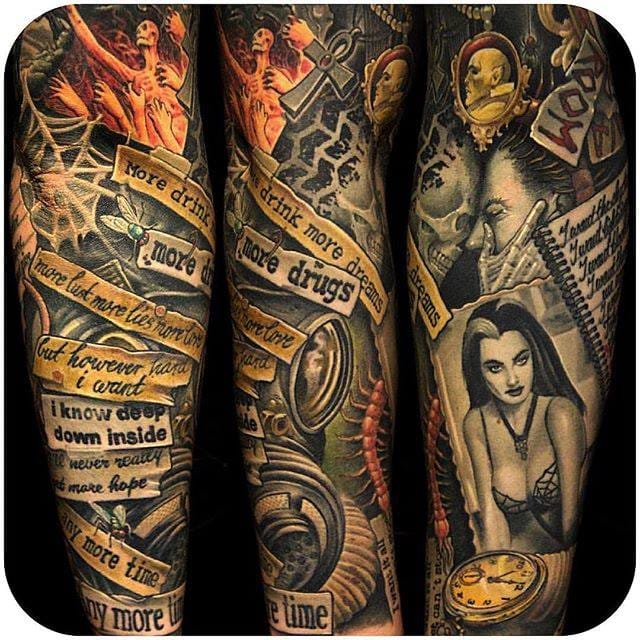 (@corpsepainter) #sleeve #horror #collage