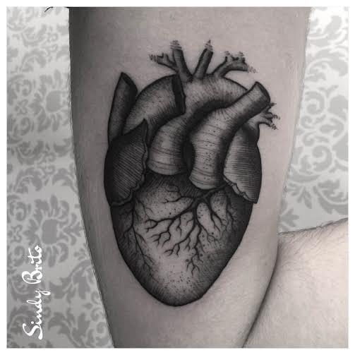 Coração! #coração #anatomico #fineline #blackwork #talentonacional #brasil #brazil #portugues #portuguese