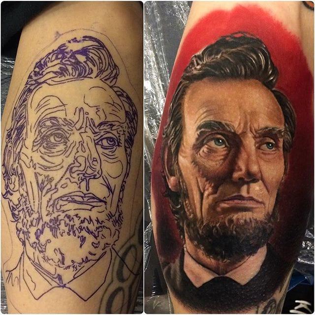 Tattoo by #JohnBarret #portraittattoo #realistic #traditional