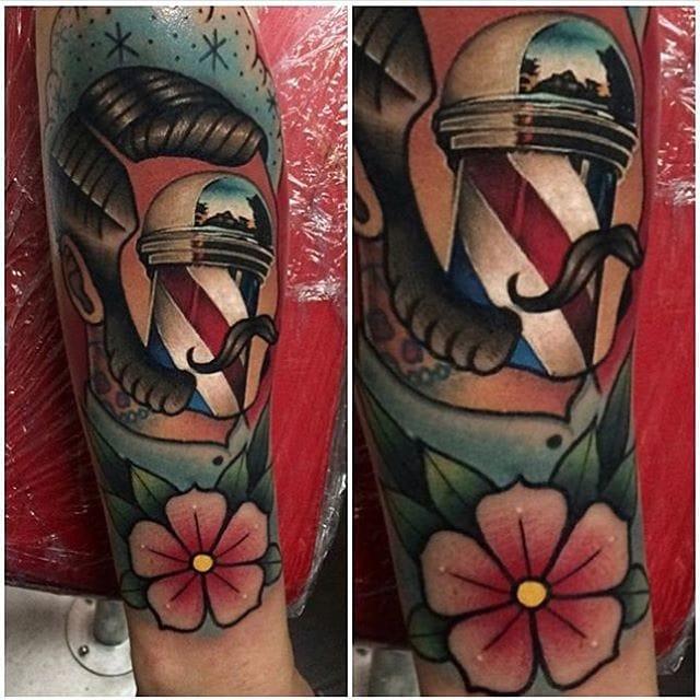 Tattoo by #JohnBarret #tattoo #realistic #traditional