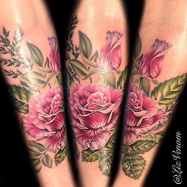 Super Vibrant Colored Tattoos by Liz Venom