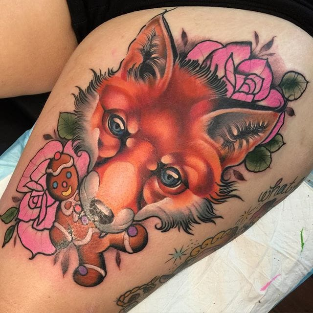 Fox Tattoo by #LyAleister