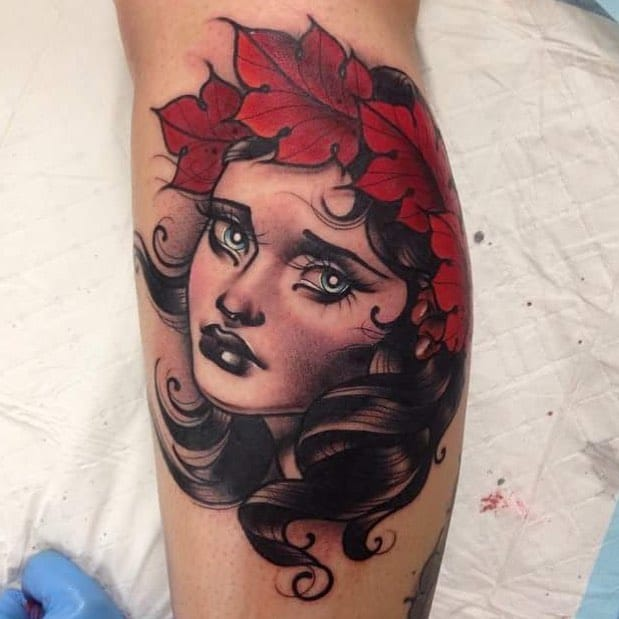 Beautiful portrait Tattoo by #LyAleister