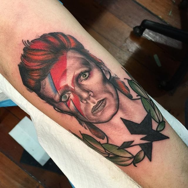 David Bowie Tattoo by Ly Aleister