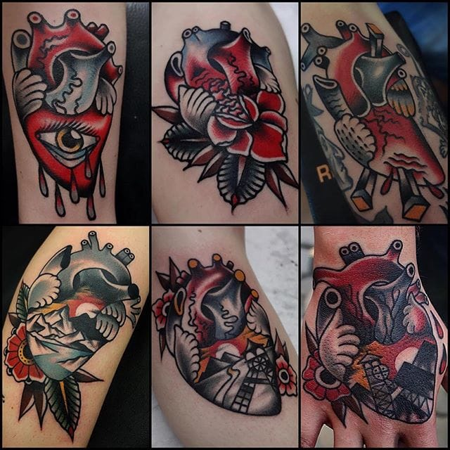 Eye-Catching Heart Tattoos By Mors Tattoo