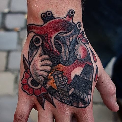 Heart Tattoo by Mors Tattoo #heart #anatomical #traditional #abstract #morstattoo