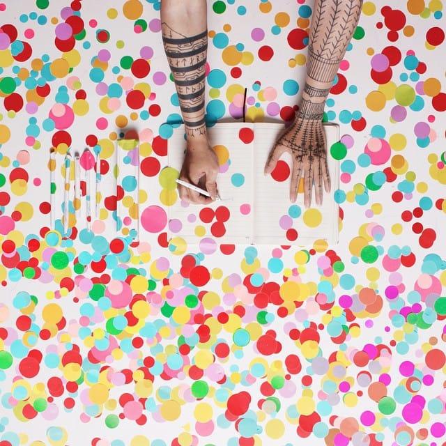Life is a color #ponypork #whatsmyhandsaredoing #tattooedartist