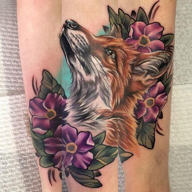 Vibrant Animal Tattoos By Lauren Fenlon